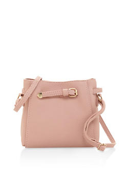 Textured Faux Leather Crossbody Bag - 3124073896035