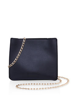 Faux Leather Crossbody Bag - 3124073896043