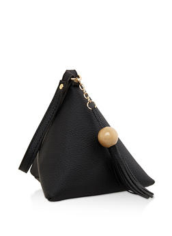 Faux Leather Geometric Wristlet - 3124073896093