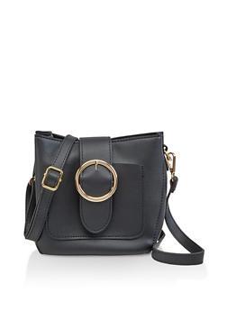 Large Buckle Crossbody Bag - 3124073896139