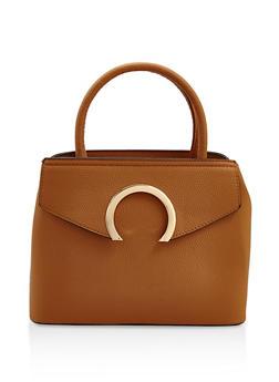 Faux Textured Leather Handbag - 3124073896246