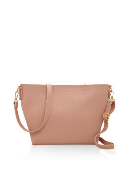 Faux Leather Crossbody Bag - 3124073896445