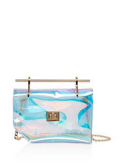 Iridescent Crossbody Satchel - 3124073896569