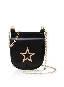 Metallic Star Crossbody Bag - 3124073896956