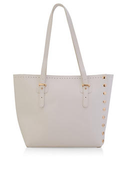 Studded Shopper Tote Bag - 3124073897032