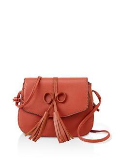 Bow Tassel Crossbody Bag - 3124073897036