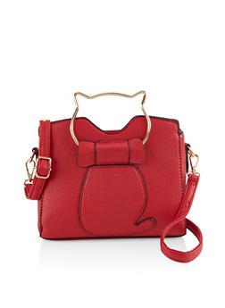 Cat Handle Crossbody Bag - 3124073897043