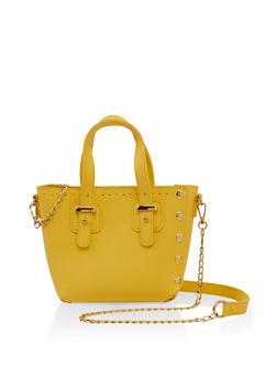 Studded Mini Tote Crossbody Bag - 3124073897105