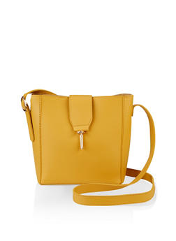 Metallic Lock Crossbody Bag - 3124073897106
