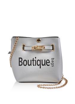 Boutique Graphic Crossbody Bag - 3124073897128