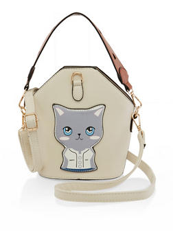 Happy Cat Bucket Crossbody Bag - 3124073897147
