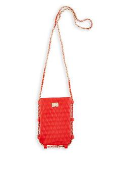 Woven Chain Strap Crossbody Bag - 3124073897162