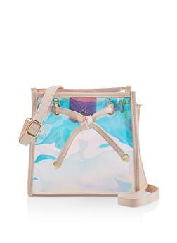 Iridesecent Square Crossbody Bag - 3124073897170
