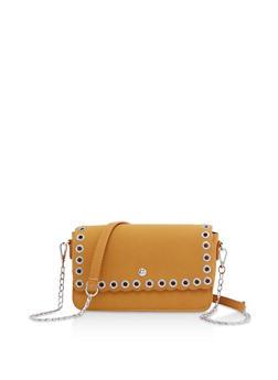 Rhinestone Grommet Crossbody Bag - 3124073897243