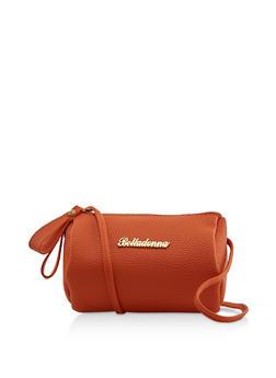 Belladonna Metallic Detail Barrel Crossbody Bag - 3124073897361