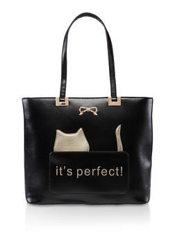 Its Perfect Cat Shopper Tote - 3124073897400