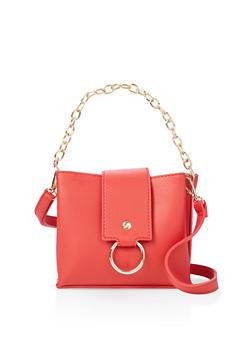 O Ring Flap Crossbody Bag - 3124073897592
