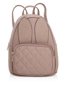 Studded Bunny Ear Backpack - PINK - 3124073899465