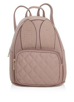 Studded Bunny Ear Backpack - 3124073899465