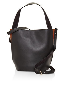 Double Strap Bucket Bag - 3124074390961