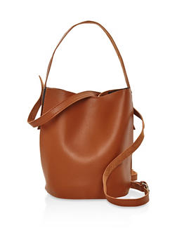 Double Strap Bucket Bag - 3124074390961