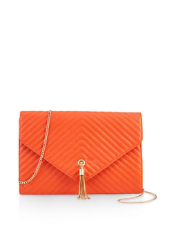 Chevron Quilted Clutch - 3124074391731