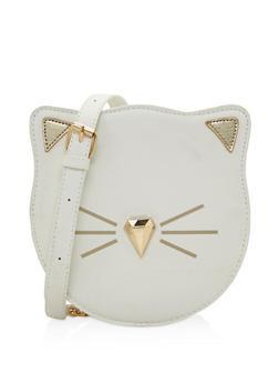 Cat Graphic Crossbody Bag - 3124074391797