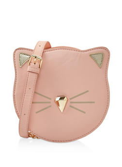 Cat Graphic Crossbody Bag - 3124074391797
