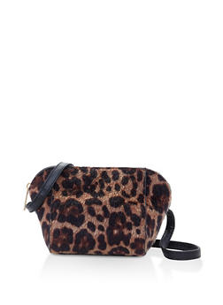 Leopard Faux Fur Crossbody Bag - 3124074391903