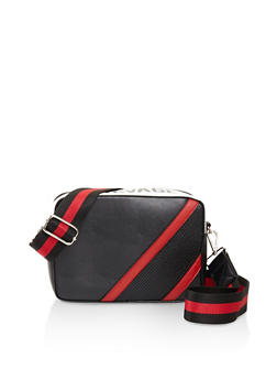 Square Striped Tape Crossbody Bag - 3124074391925