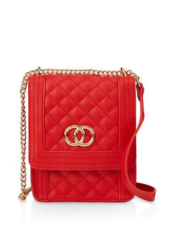 Quilted Chain Crossbody Bag - 3124074391988