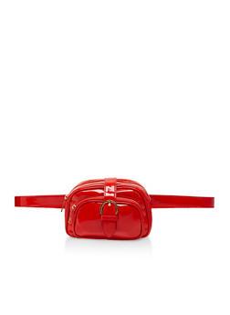 Double Zip Buckle Belt Bag - 3124074392843
