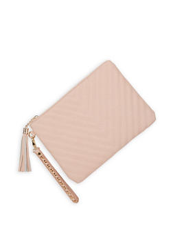 Chevron Quilted Clutch - 3124074393124