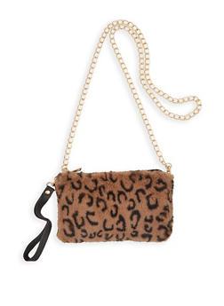 Leopard Faux Fur Crossbody Bag - 3124074394193
