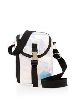 Iridescent Buckle Detail Crossbody Bag - 3124074398680