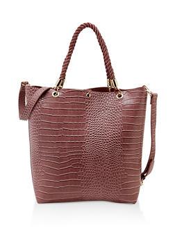 Snake Embossed Tote Bag - 3124074398880