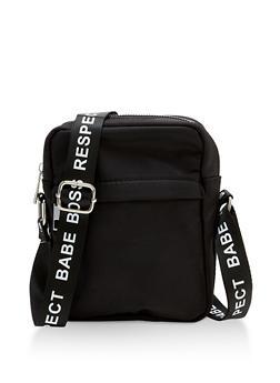 Graphic Tape Strap Crossbody Bag - 3124074398884