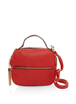 Square Faux Leather Crossbody Bag - 3124074399079