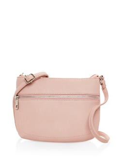Textured Faux Leather Crossbody Bag - 3124074399089