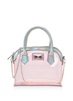 Mini Iridescent Trim Clear Crossbody Handbag - 3124074399118