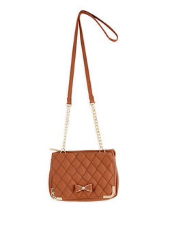 Quilted Faux Leather Crossbody Bag - 3124074399119