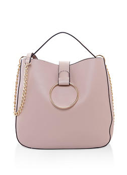Faux Leather Crossbody Tote - 3124074399120