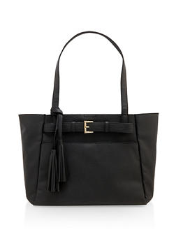 Belted Shopper Tote Bag - 3124074399829