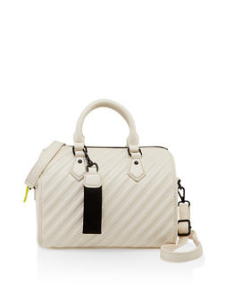 Embossed Handbag - 3124074399869