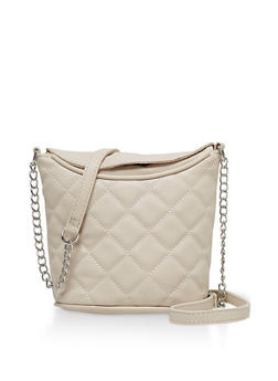 Quilted Crossbody Bucket Bag - 3124075501152
