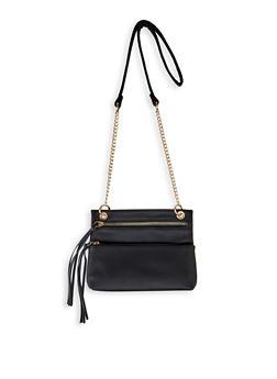 Double Front Zip Crossbody Bag - 3124075501159