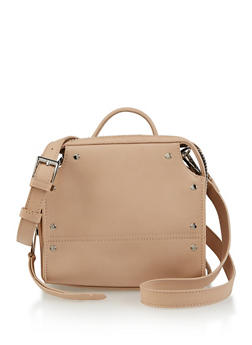 Studded Zip Around Crossbody Bag - 3124075506070