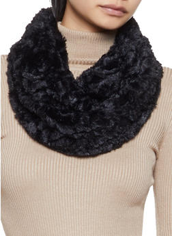 Faux Fur Infinity Scarf - 3125042741071