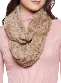 Faux Fur Infinity Scarf - BROWN - 3125042741071