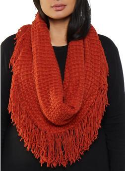 Knit Fringe Infinity Scarf - 3125067440037